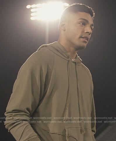 Jordan's green hoodie on All American