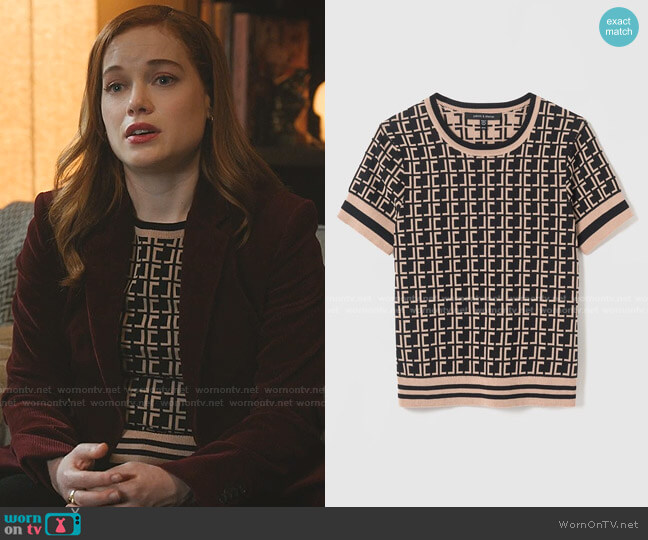 Monogram Pullover by Judith & Charles worn by Zoey Clarke (Jane Levy) on Zoeys Extraordinary Playlist