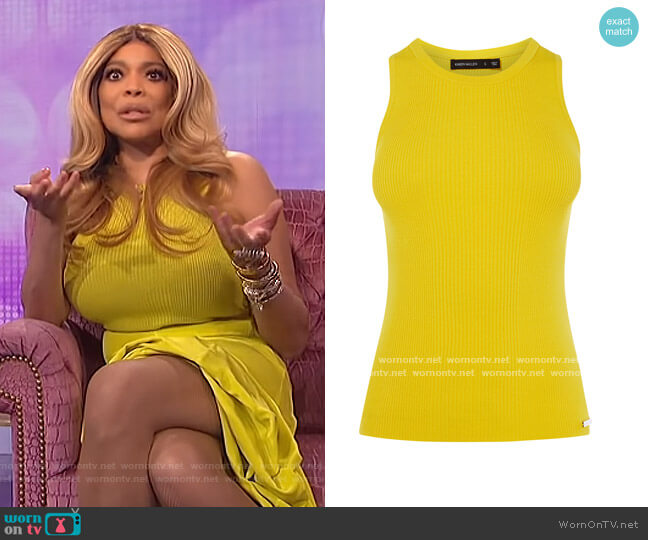 Skinny Ribbed Top by Karen Millen worn by Wendy Williams  on The Wendy Williams Show