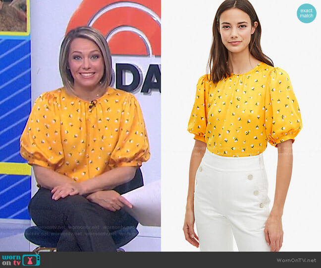 Dainty Bloom Top by Kate Spade worn by Dylan Dreyer  on Today