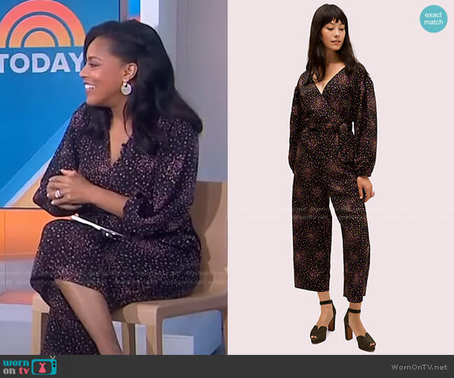 Disco Dots Jumpsuit by Kate Spade worn by Sheinelle Jones  on Today