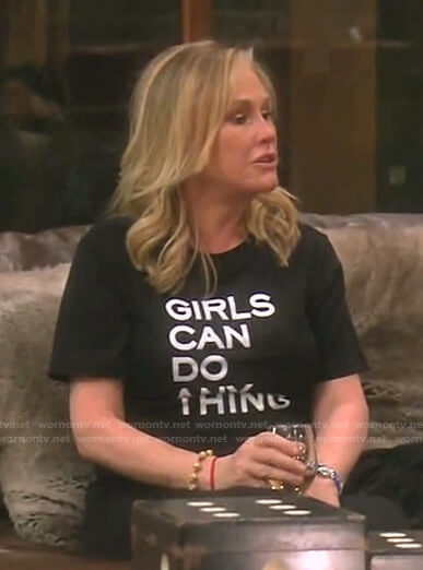 Kathy's Girls Can Do Any-thing tee on The Real Housewives of Beverly Hills