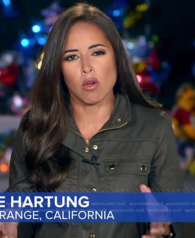 Kaylee Hartung's grey utility jacket on Good Morning America