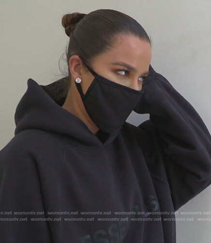 Khloe's Essentials logo hoodie on Keeping Up with the Kardashians