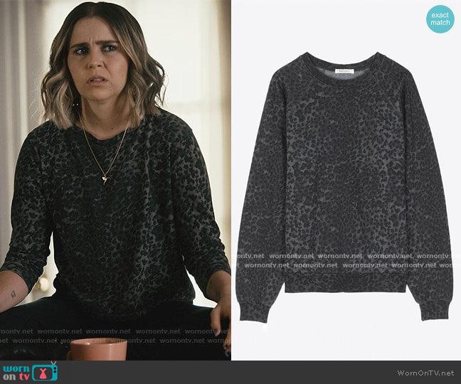 LA Oversized Sweatshirt in Anthracite Leopard by Ragdoll worn by Annie Marks (Mae Whitman) on Good Girls