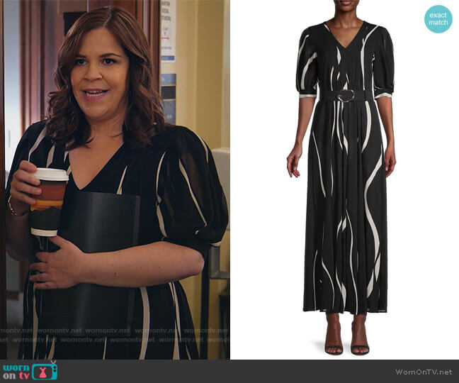 Sutherland Dress With Slip by Lafayette 148 worn by Sara Castillo (Lindsay Mendez) on All Rise