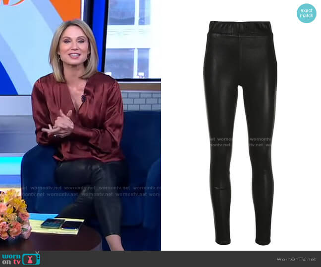 High-Rise Fitted Leggings by L'Agence worn by Amy Robach  on Good Morning America