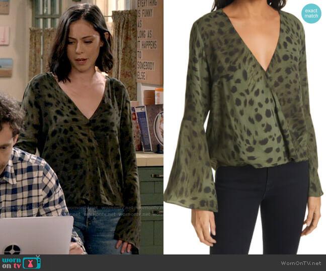 L'Agence Mei Animal Blouse worn by Adriana (Rosa Salazar) on B Positive