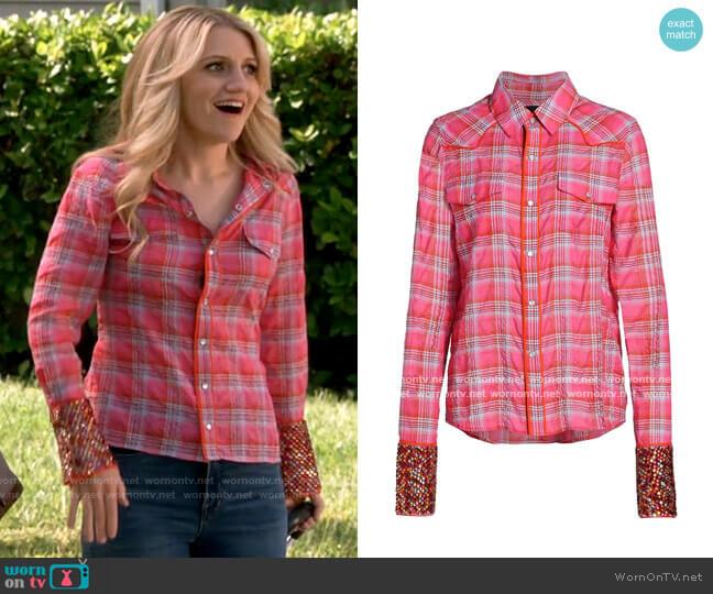 Le Superbe Super Stoned Cowboy Plaid Shirt worn by Gina Dabrowski (Annaleigh Ashford) on B Positive