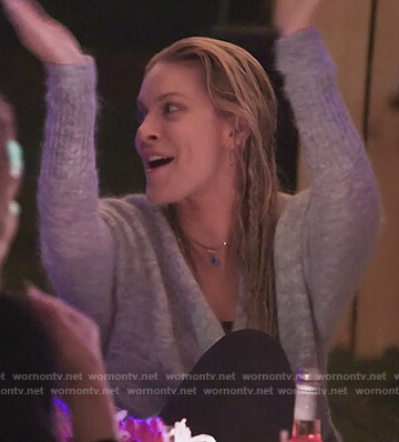 Leah's gray cardigan on The Real Housewives of New York City