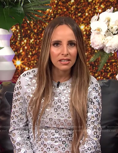 Lilliana's grey sequin dress on E! News Post Pop