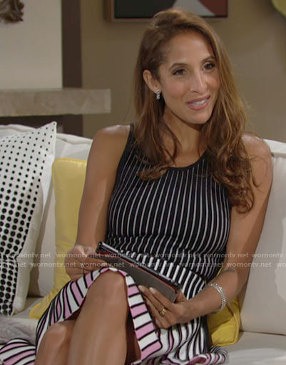 Lily's striped dress on The Young and the Restless
