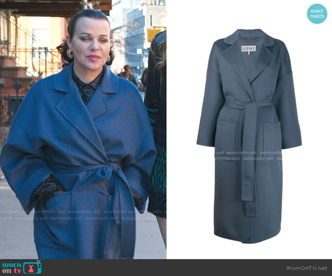 Belted Wrap Coat by Loewe worn by Maggie (Debi Mazar) on Younger