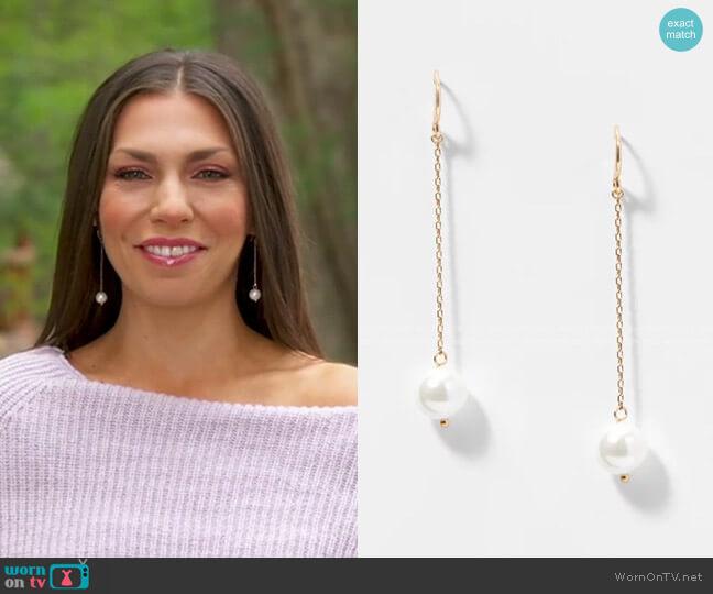 Pearlized Drop Earrings by Loft