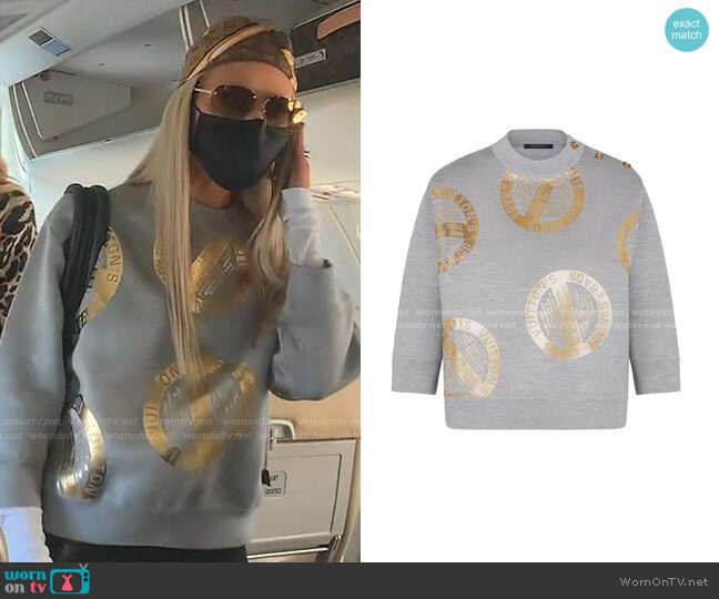 Signature Three Quarter Sleeved Sweater by Louis Vuitton worn by Dorit Kemsley  on The Real Housewives of Beverly Hills