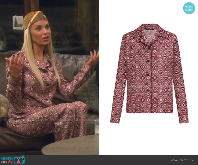Since 1854 Pajama Top by Louis Vuitton worn by Dorit Kemsley  on The Real Housewives of Beverly Hills