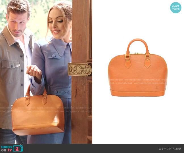 Alma Leather Handbag by Louis Vuitton worn by Fallon Carrington (Elizabeth Gillies) on Dynasty