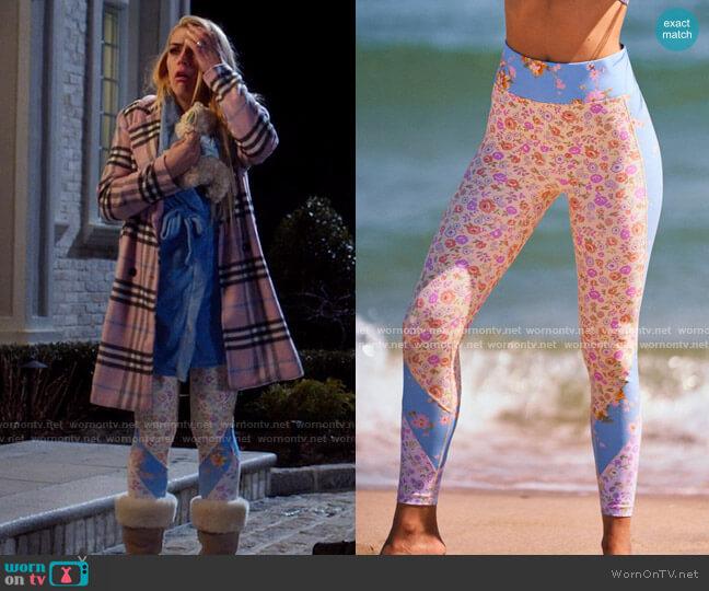 LSF x Bandier Mixed Print Legging worn by Summer Dutkowsky (Busy Philipps) on Girls5eva
