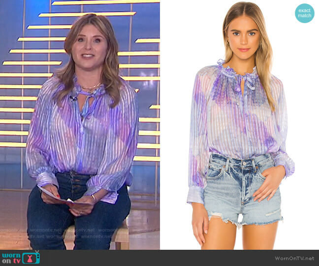 Willow Top by Love Shack Fancy worn by Jenna Bush Hager  on Today