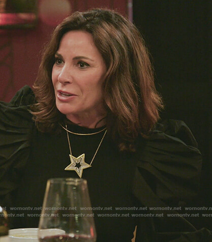 Sonja's black tweed jacket on The Real Housewives of New York City