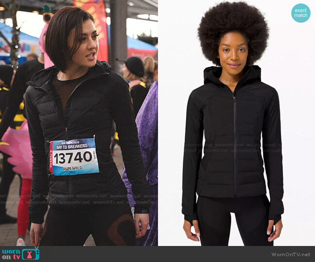 Down for It All Jacket by Lululemon worn by Rosanna Williams (Katie Findlay) on Zoeys Extraordinary Playlist