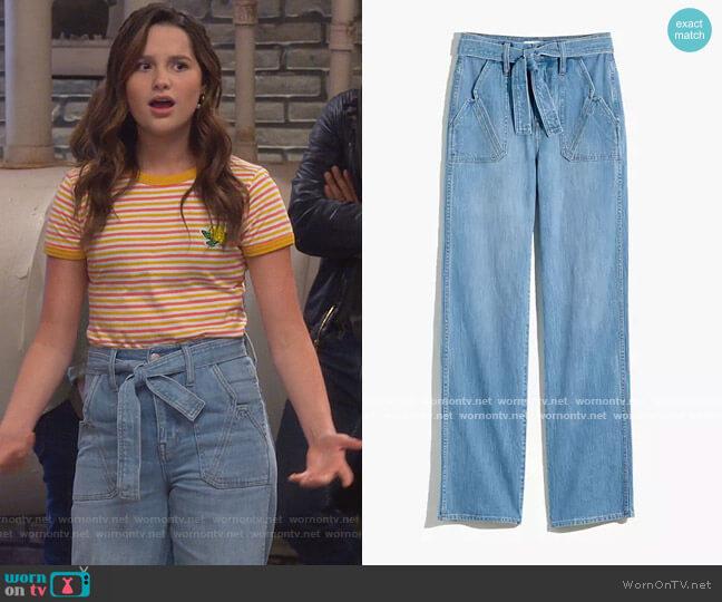 x Warm High-Rise Wide-Leg Jeans by Madewell worn by Lex (Jules LeBlanc) on Side Hustle