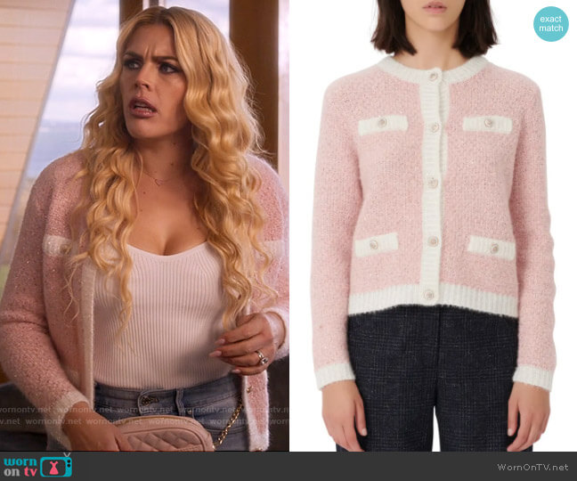 Maje Cardigan Sweater worn by Summer Dutkowsky (Busy Philipps) on Girls5eva