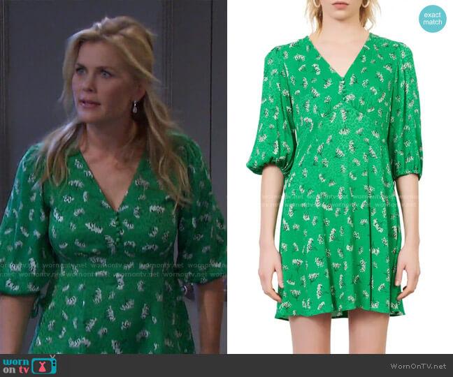 Rizelle Dress by Maje worn by Sami Brady (Alison Sweeney) on Days of our Lives