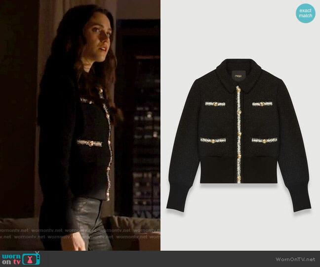 Maje Bloppy Jacket worn by Abigael Jameson-Caine (Poppy Drayton) on Charmed