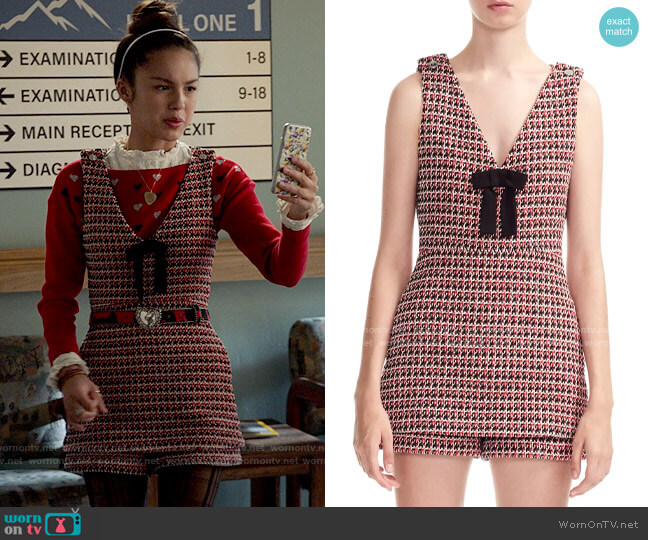 Maje Iroma Tweed Romper worn by Nini (Olivia Rodrigo) on High School Musical The Musical The Series