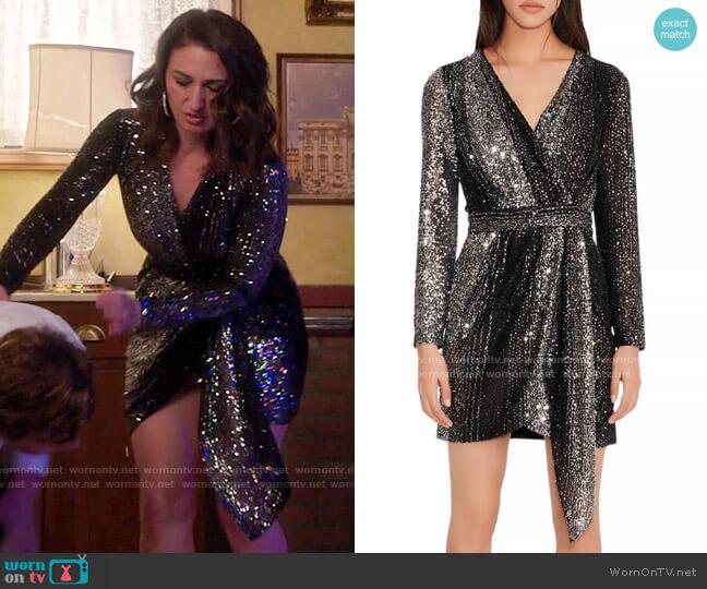 Maje Rileta Dress worn by Dawn Solano (Sara Bareilles) on Girls5eva