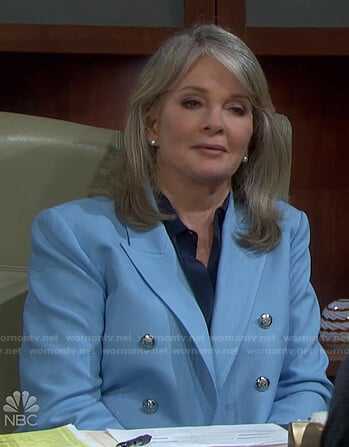 Marlena's light blue double breasted blazer on Days of our Lives