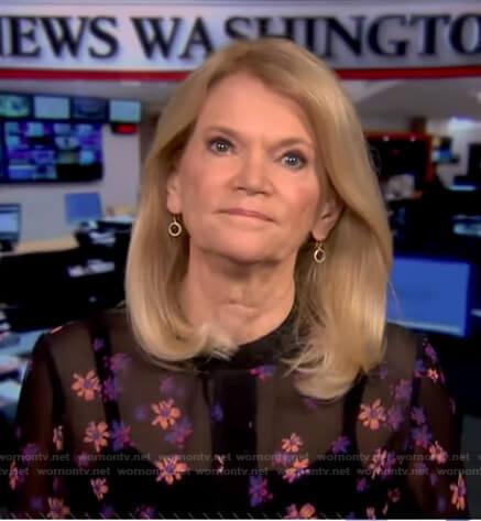 Martha Raddatz's black floral dress on Good Morning America