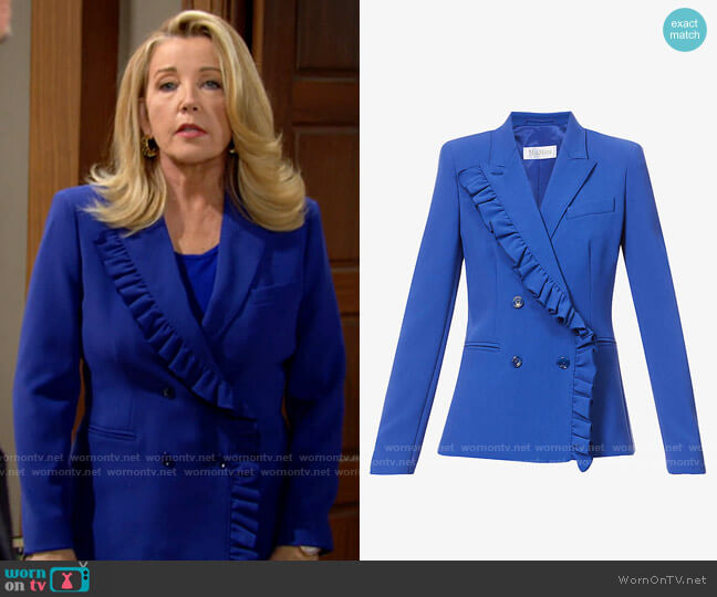 Max Mara Colomba Blazer worn by Nikki Reed Newman (Melody Thomas-Scott) on The Young & the Restless