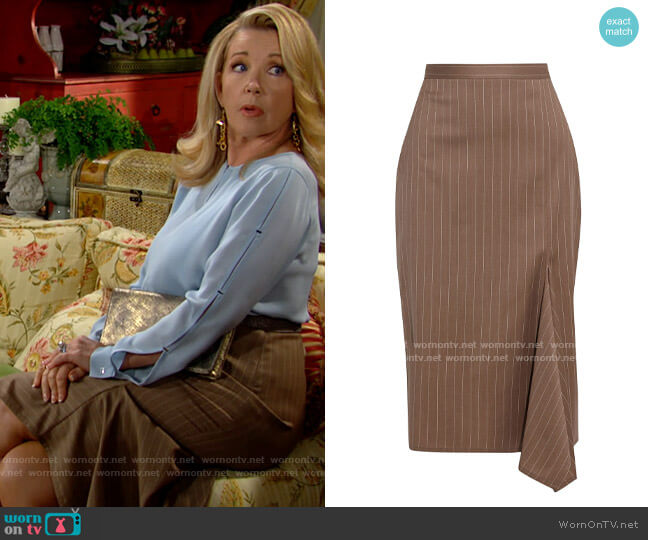 Max Mara Fedora Skirt worn by Nikki Reed Newman (Melody Thomas-Scott) on The Young & the Restless