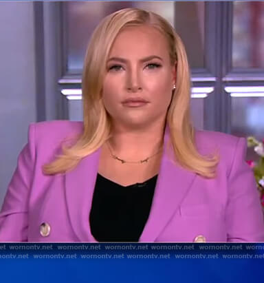 Meghan's lavender double breasted blazer on The View