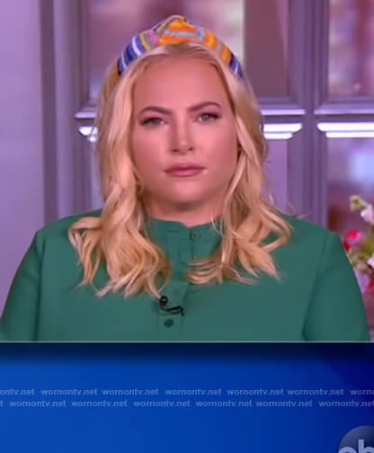 Meghan's stripe knotted headband on The View