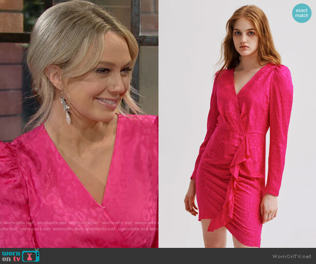 Milly Fawn Cheetah Jacquard Dress worn by Abby Newman (Melissa Ordway) on The Young & the Restless