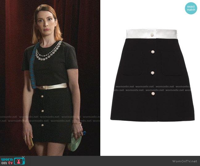 Cady A-line Skirt by Miu Miu worn by Lauren (Molly Bernard) on Younger