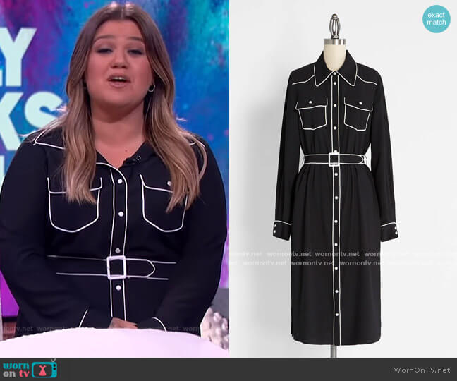 To Graceland and Back Western Shirt Dress by Modcloth worn by Kelly Clarkson  on The Kelly Clarkson Show