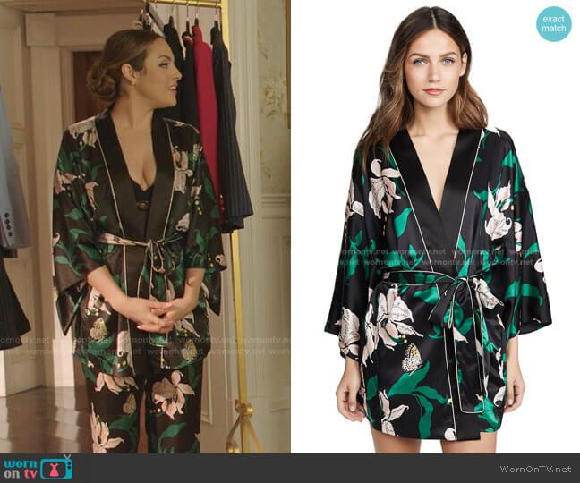 Nia Robe by Morgan Lane worn by Fallon Carrington (Elizabeth Gillies) on Dynasty