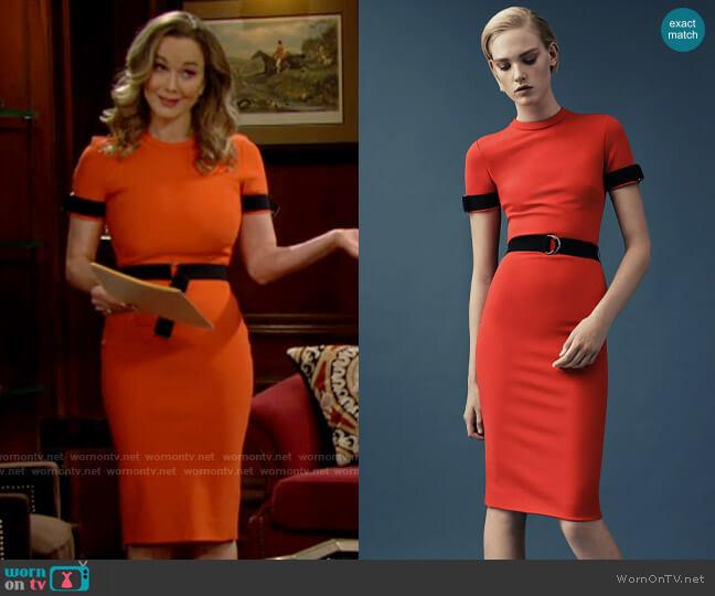 Mugler Resort 2015 Orange Dress worn by Donna Logan (Jennifer Gareis) on The Bold & the Beautiful