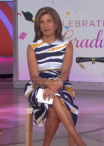 Hoda's multicolor print dress on Today