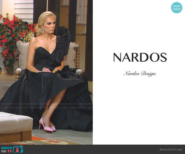 Custom designed by Nardos Design worn by Kameron Westcott  on The Real Housewives of Dallas