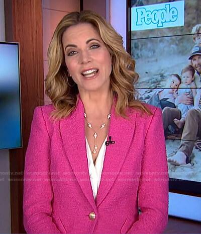Natalie's pink tweed blazer on Today
