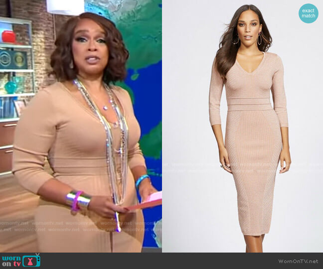 NY&Co V-Neck Sweater Dress - Gabrielle Union Collection worn by Gayle King  on CBS This Morning