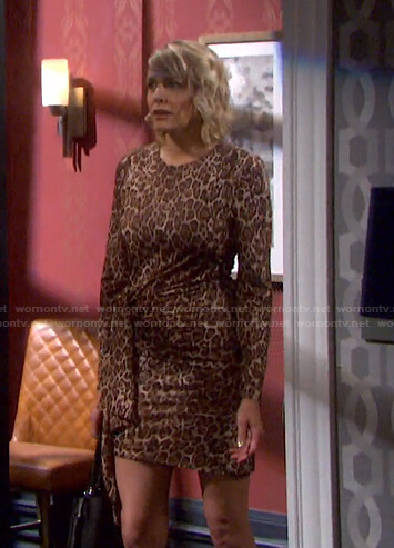 Nicole's leopard tie waist dress on Days of our Lives