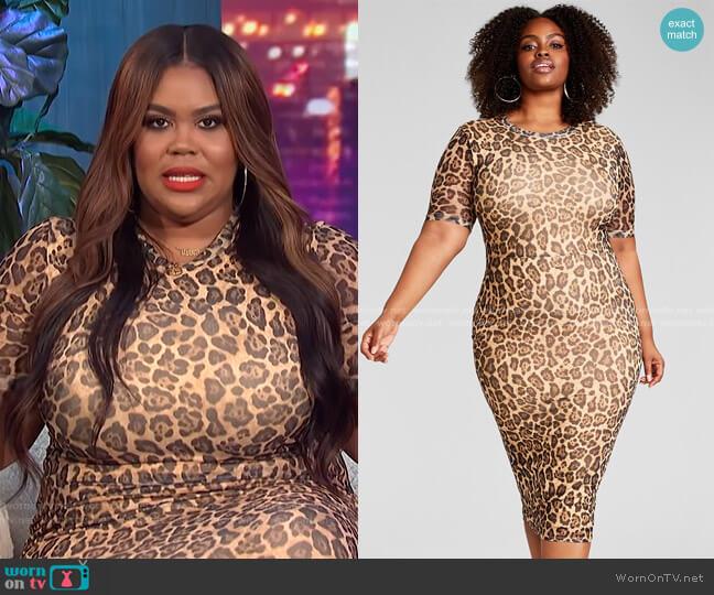 Trendy Plus Size Mesh Midi Dress by Nina Parker worn by Nina Parker  on E! News
