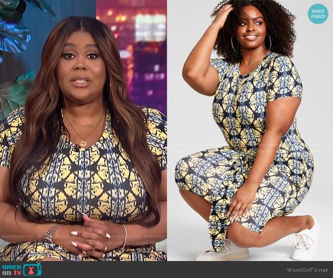 Trendy Plus Size Tie-Front Dress by Nina Parker worn by Nina Parker  on E! News