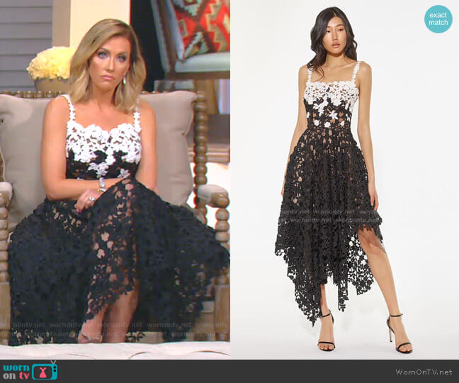 Lace Dress by Oscar de la Renta worn by Stephanie Hollman  on The Real Housewives of Dallas
